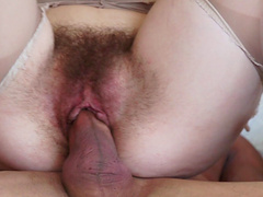 Icy hot amateur moans hung stud buries his cock deep in her furry furnace