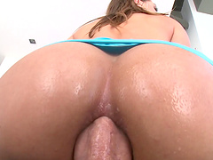 Sassy cowgirl has her anal drilled after a rough face fucking