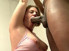 BBW blonde mom is addicted to black dudes and their big cocks