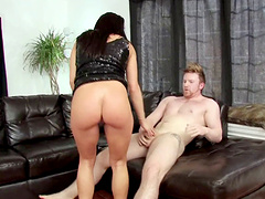 Adorable co-wife sucks it after enjoying a superb doggystyle throbbing