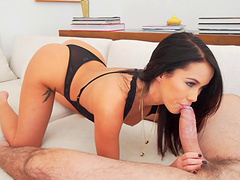 Adorable brunette likes anal sex and being treated to facial cumshots
