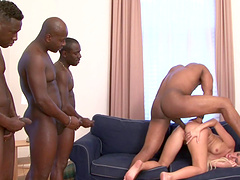 Amazing Jenny takes on BBC in a hardcore group sex shoot