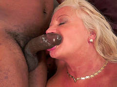 Anett toying her mature pussy ahead of a black cock destruction in pov