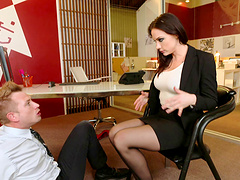 Feet fetish combined with the hardcore vaginal penetration