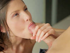Charming Cloee moans in pleasure in a anal pounding scene in the kitchen