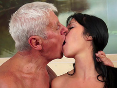 Bella Beretta was amazed by big granny's job when he gave her a hard fuck