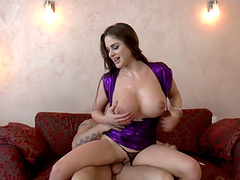 Cathy Heaven just loves having her boobs decorated with man-juice