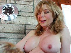 Adorable mature amateur in stocking s moaning as she gets licked