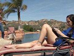 Sexy Savannah Fyre is having a great view while getting pounded