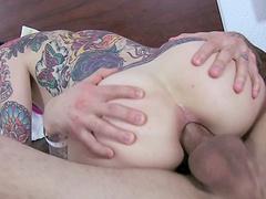 Two tattooed senoritas having an unforgettable anal threesome