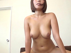 Japanese girl with the prettiest face and the rock-solid cock
