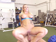 Getting bonked in the gym brings a special pleasure to Cali Carter