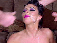 Sexy Rachel Starr easily takes on more than one erected dick