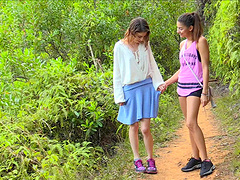 Kristen and Nina have a blast while fucking in a forest