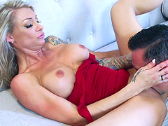 Synthia's other hole is now finally ready for the deepest penetration