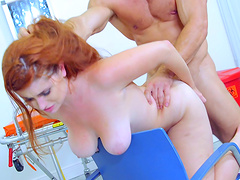 This desirable redhead is ready to get humped in all the positions