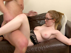 She's a nerdy bookworm and she wants to impale herself on that cock!