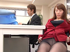 Nothing in the world pleases Yui like having rough sex at the office!