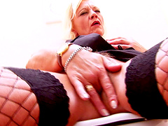 Dreams come true for hot mature after hard fuck trough the wall