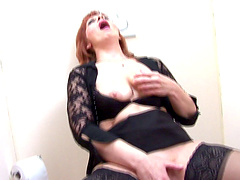 Blowing trough the wall before sex from behind is amazing for hot milf