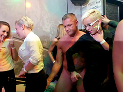 Horny ladies have a great time fucking men at a party