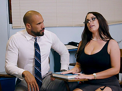 Angela White is curious about a black fellow's massive dong