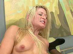 Black dude destroys Kelly Wells's wet pussy with his long pecker