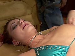 Nikki Nievez gets her shaved pussy fucked and fingered by her lover