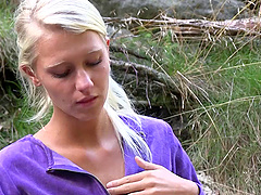 Sara is a real cutie who loves masturbating in the wilderness
