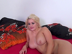 Blonde called Sienna getting her hole filled with the rock-solid meat