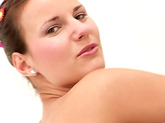 Gorgeous Linnea pays a special attention to her pussy in the bathroom