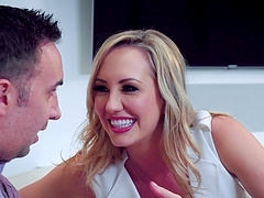 Brett Rossi is a gorgeous MILF who loves opening her legs for a dick