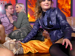 Zafira and Coco De Mal enjoy a formidable orgy with pulsating boners