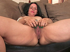 Nina Swiss is a mature brunette who knows how to make her pussy moist