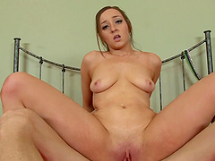 Jessie Lynn's bubble butt bounces as she rides a big dick