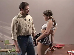 Gia Paloma is curious about a hot hunk's pulsating dick