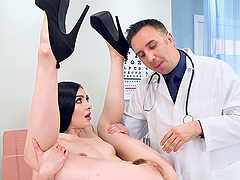 Marley Brinx's hairy vagina is all a kinky doctor wants to plow