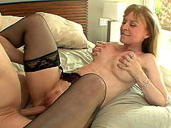 Nina Hartley is a mature blonde in need of a throbbing dick