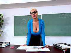Bridgette B is a busty teacher who craves to feel a dick
