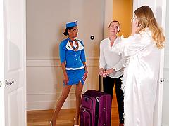Adoring ladies Britney Amber and Katya Rodriguez share a big toy