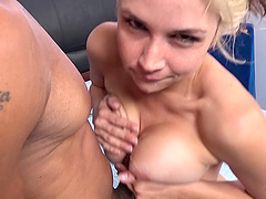 Sarah Vandella has a blast with a fellow's erected dong