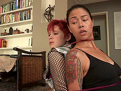 Kayla Carrera and Lily Cade want to feel each other's warm holes