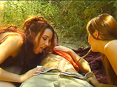 Olivia Saint and Gwen Summers do not mind sharing a stranger's dick