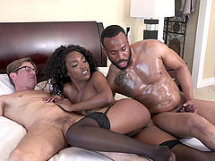 Daya Knight fucked by a black lover in front of a cuckold
