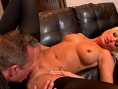 Diana Doll is a horny blonde MILF who cannot resist a boner