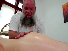 Tera Link has a blast with a mature bearded masseur