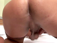 Hot shemale wants to feel a fellow's cock up her anal hole