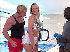 Pulsating cocks make Nikki Dream's tight holes dripping wet