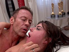 Anastasia B is keen to be penetrated by a huge boner