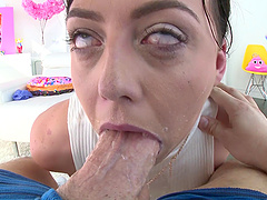 Whitney Wright chokes on a dick before an anal fuck